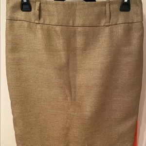 The Limited Skirt, tan color size 4 linen look